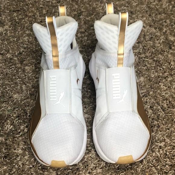 Puma Shoes | Puma Fierce White And Gold